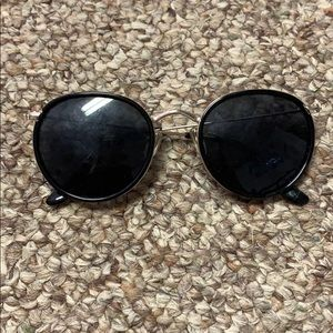 Urban Outfitters Accessories - Gold and black round sunglasses
